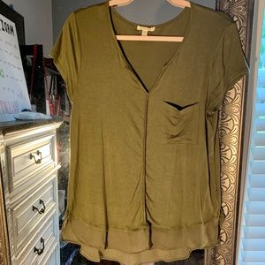 Like new Anthropologie Green Blouse